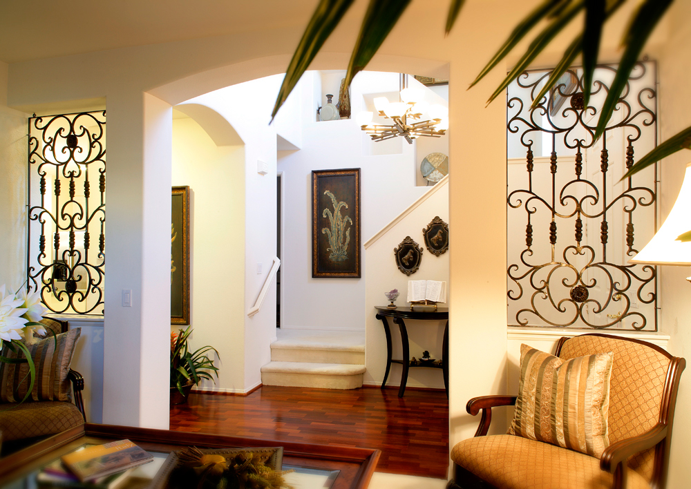 Hall Way with Iron hardware accents - Classic Style