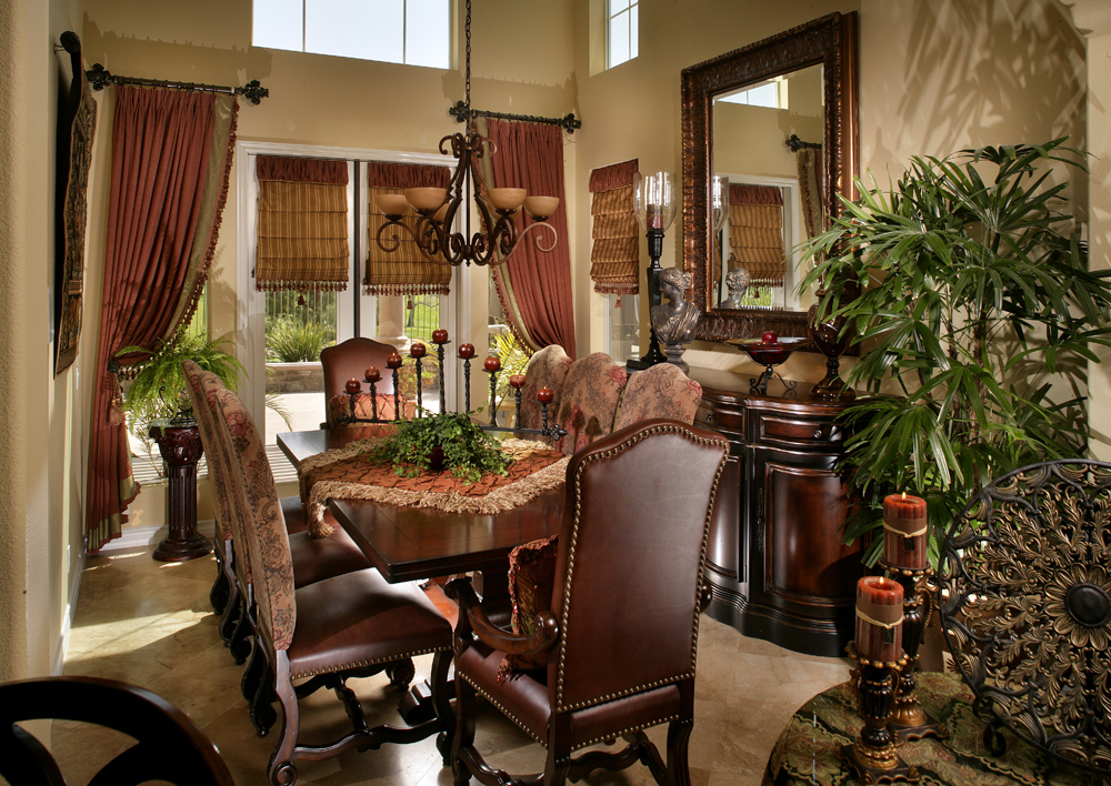 Dining Room - Mediterranean, Old World, Tuscany Style