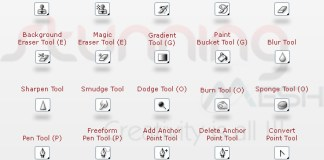 Photoshop CS4 Tools and Shortcut Keys