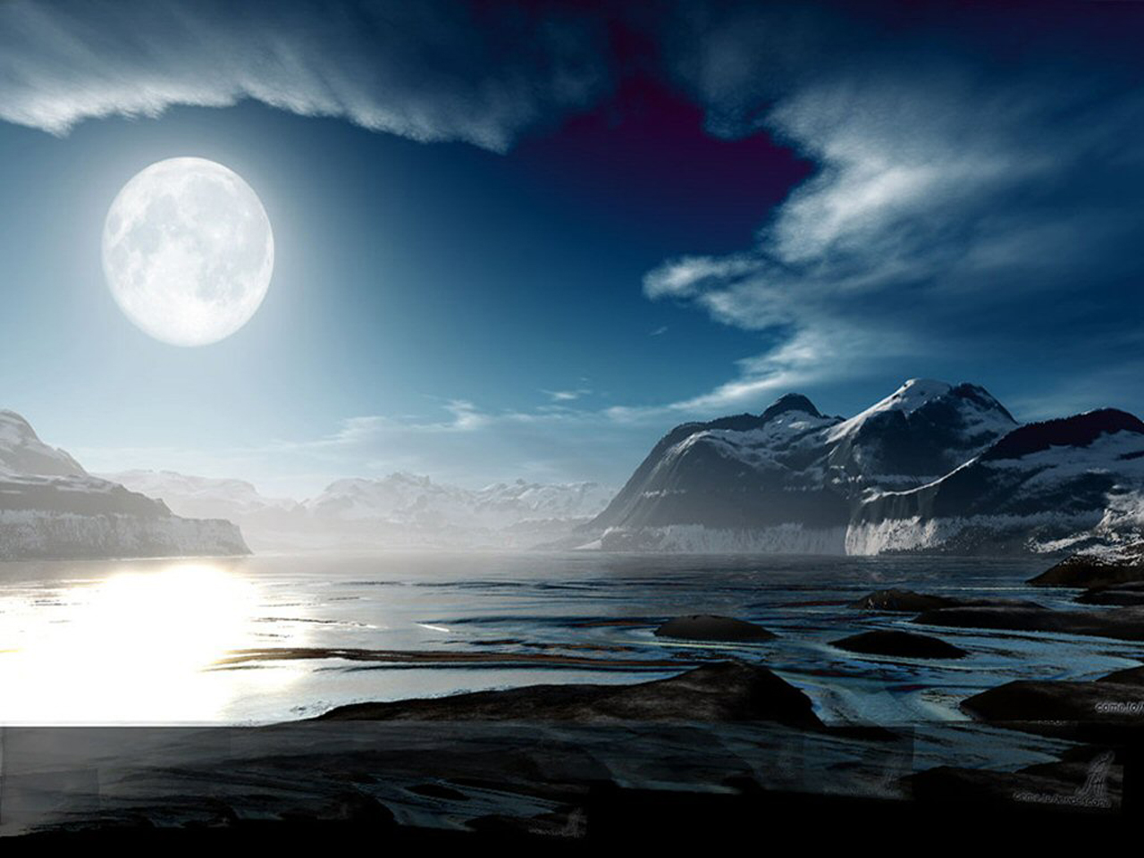 Beautiful romantic moonlight wallpapers for Foto beautiful