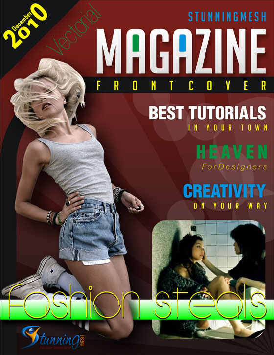 Vectorial Magazine Front Cover in Coreldraw