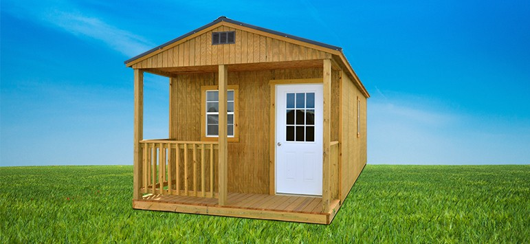 Side Porch Cabin Shed