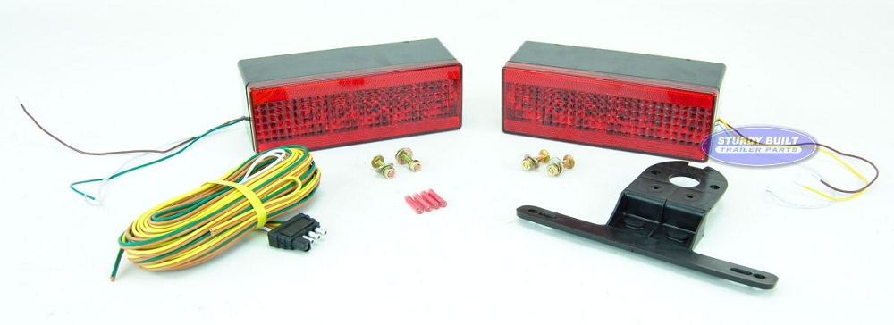 LED Submersible Boat Trailer Complete Light Kit Low Profile