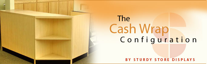 Cash Wrap Counters Streamline Showcases Sturdy Store Displays