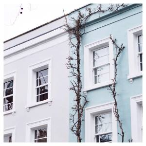Blues and greys in Notting Hill