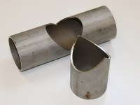 Square metal pipe and tube cutting samples by fiber laser ...