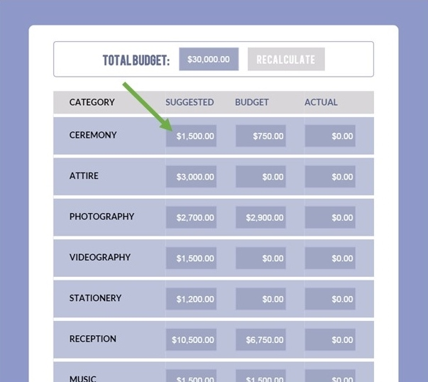 Wedding Budget Calculator-Free Planner Tool