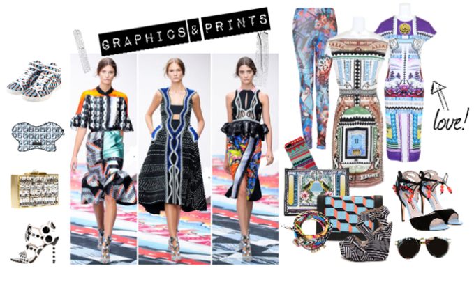 Graphic prints – Key trend Spring summer 2013