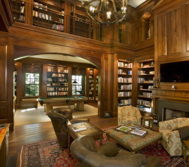 23 Amazing Home Library Design Ideas for All Book Lovers - Style - home library ideas
