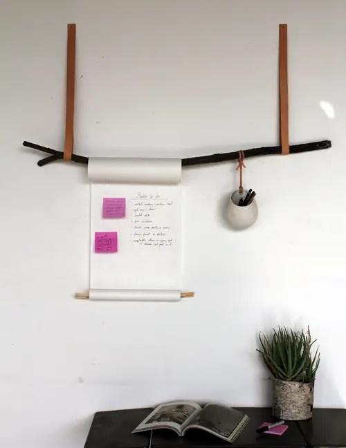 18 Great DIY Office Organization and Storage Ideas - Style Motivation - hanging office organization