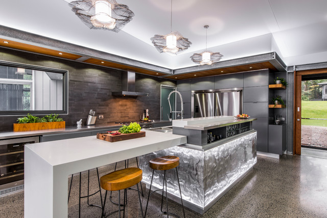 18 Outstanding Contemporary Kitchen Designs That Will Bring Out - chef kitchen design