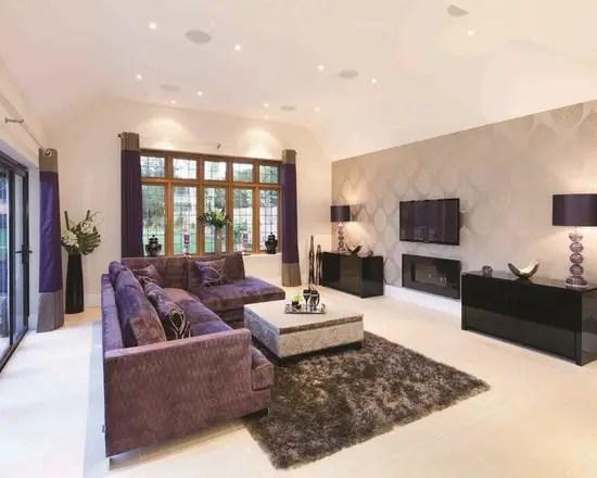 20 Lovely Living Room Wallpaper Ideas - Style Motivation - wallpaper ideas for living room