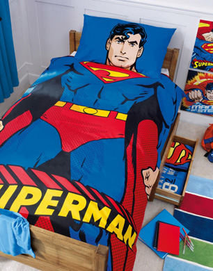 Superman bed set book covers