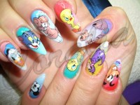 Funny Cartoon Nail Art Designs 12 | Styleoholic