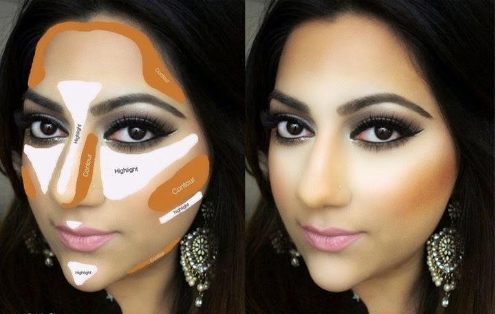 Keep doing it as shown in a picture now you re done with contouring