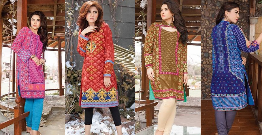 Latest Winter Kurtis Collection 2018 2019 By Lsm Fabrics