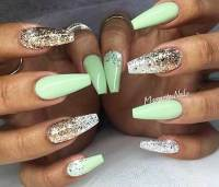 Spring Coffin Nail Designs | Best Nail Designs 2018