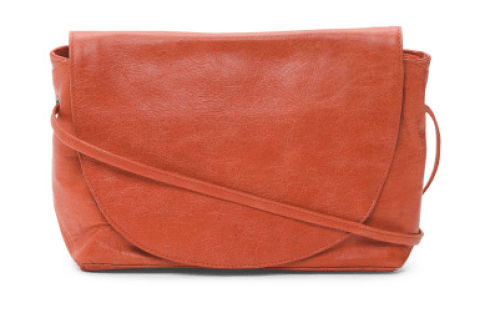 Latico Flap Front Leather Messenger