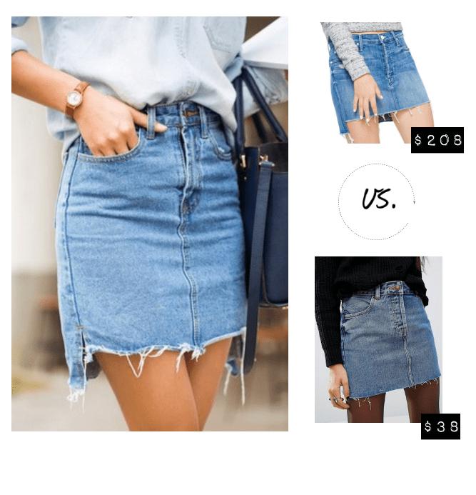 Ripped Denim Mini Skirts
