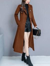 Long Sleeve Casual Shawl Collar Solid Coat - StyleWe.com