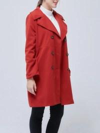Shawl Collar Long Sleeve Casual Coat - StyleWe.com