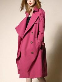 Shawl Collar Long Sleeve Trench Coat - StyleWe.com