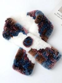 Stylewe Purple Scarves Faux Fur Casual Winter Scarves