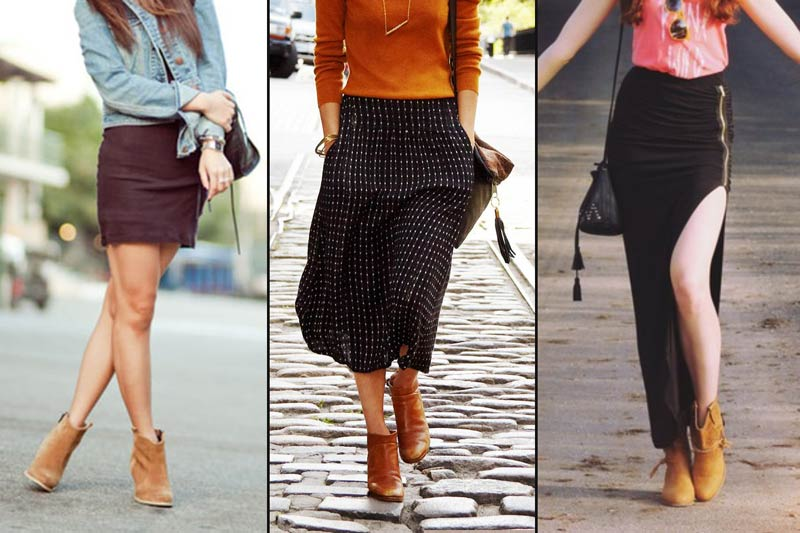 How To Wear Ankle Boots With Jeans Skirts And Dresses