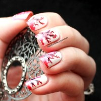 Are You Willing To Try These Cherry Blossom Nail Arts?