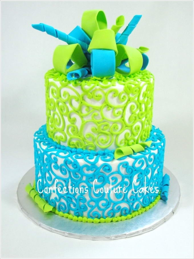 Cute Twin Baby Boy And Girl Wallpapers 10 Lovely Blue And Green Cake Designs That You Will Admire