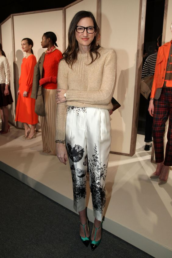 A model poses on the runway at the J.Crew Fall 2012 Presentation during Mercedes-Benz Fashion Week at The Studio at Lincoln Center on February 14, 2012 in New York City.