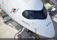 Airbus demonstrates aircraft inspection by drone at Farnborough – video