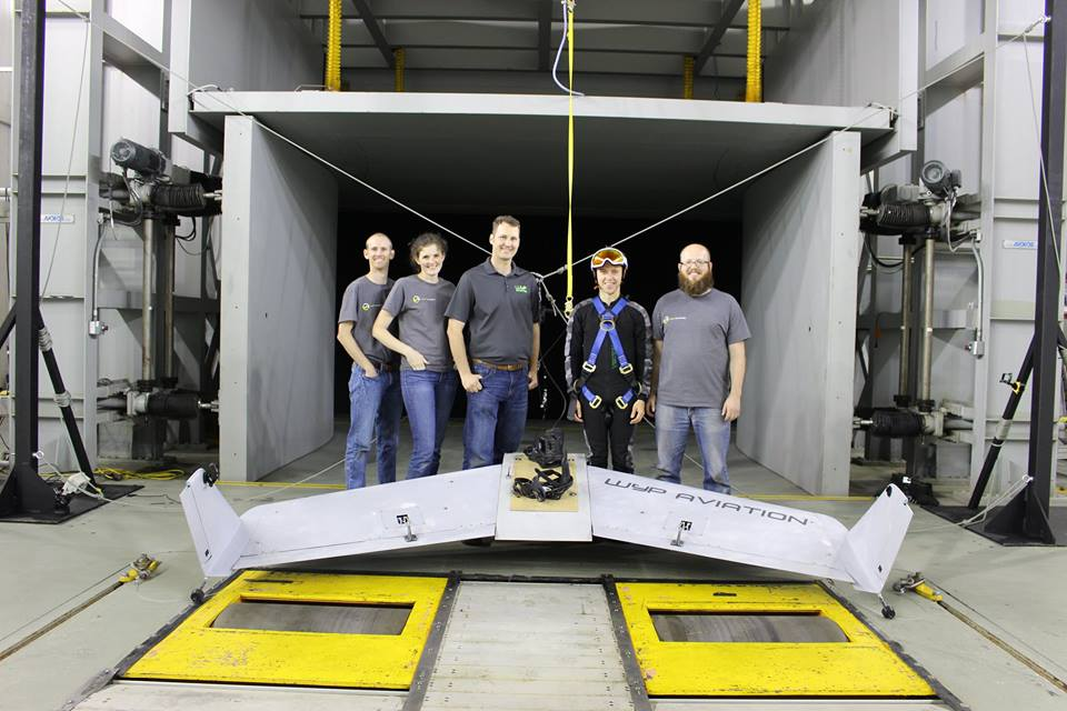 First flight for manned wingboard