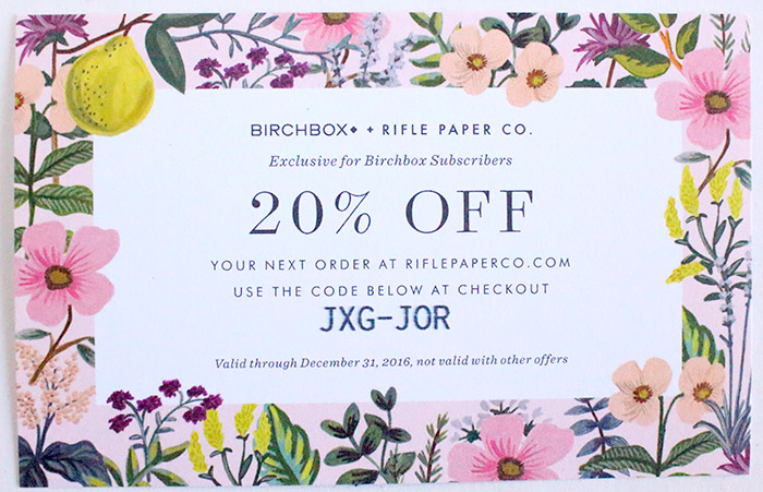 Rifle paper co coupon code