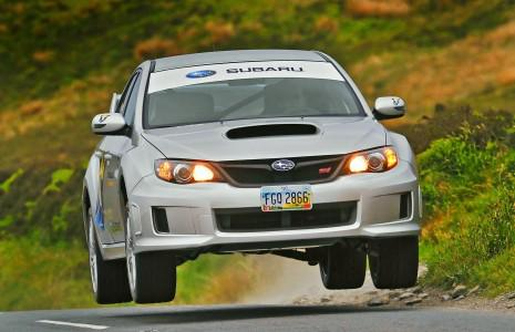 Mark Higgins does the Isle of Man aboard a Subaru WRX STI