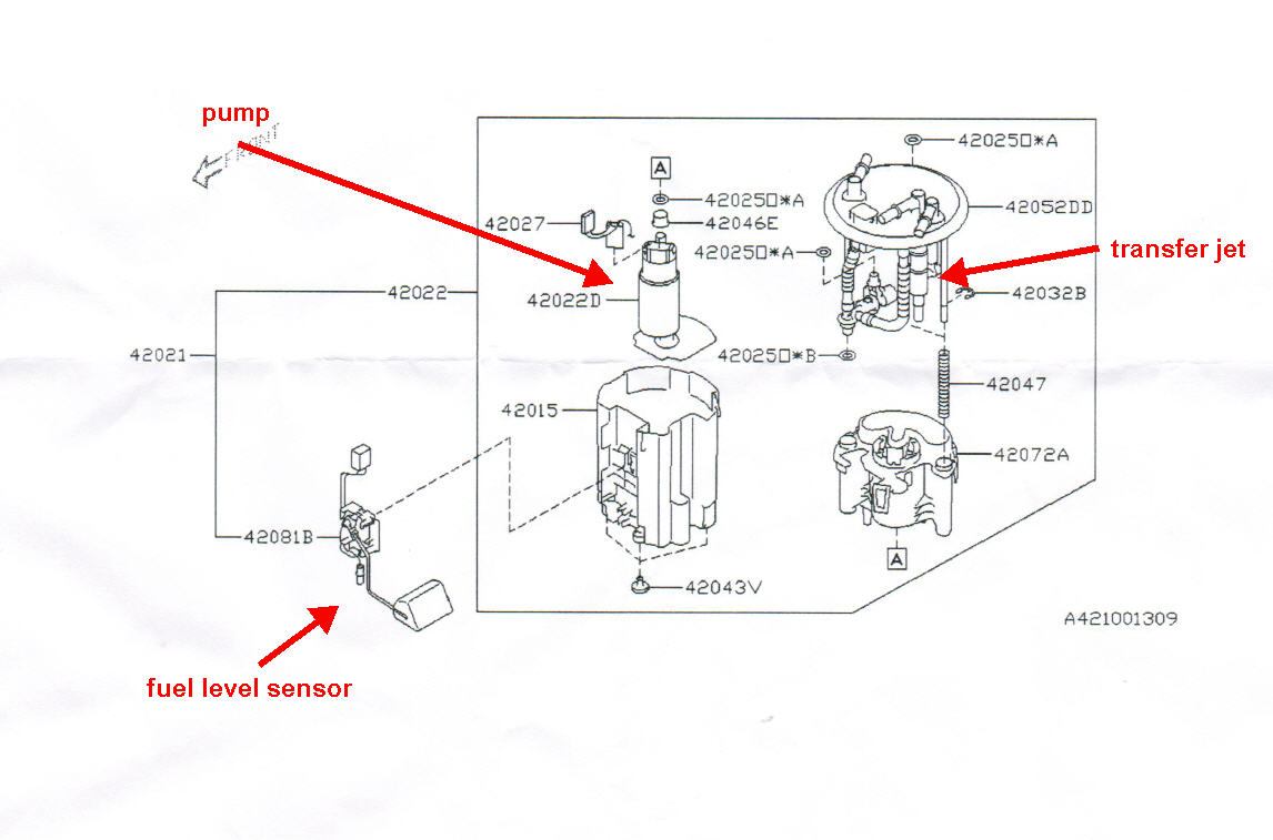 2005 subaru legacy fuel filter location