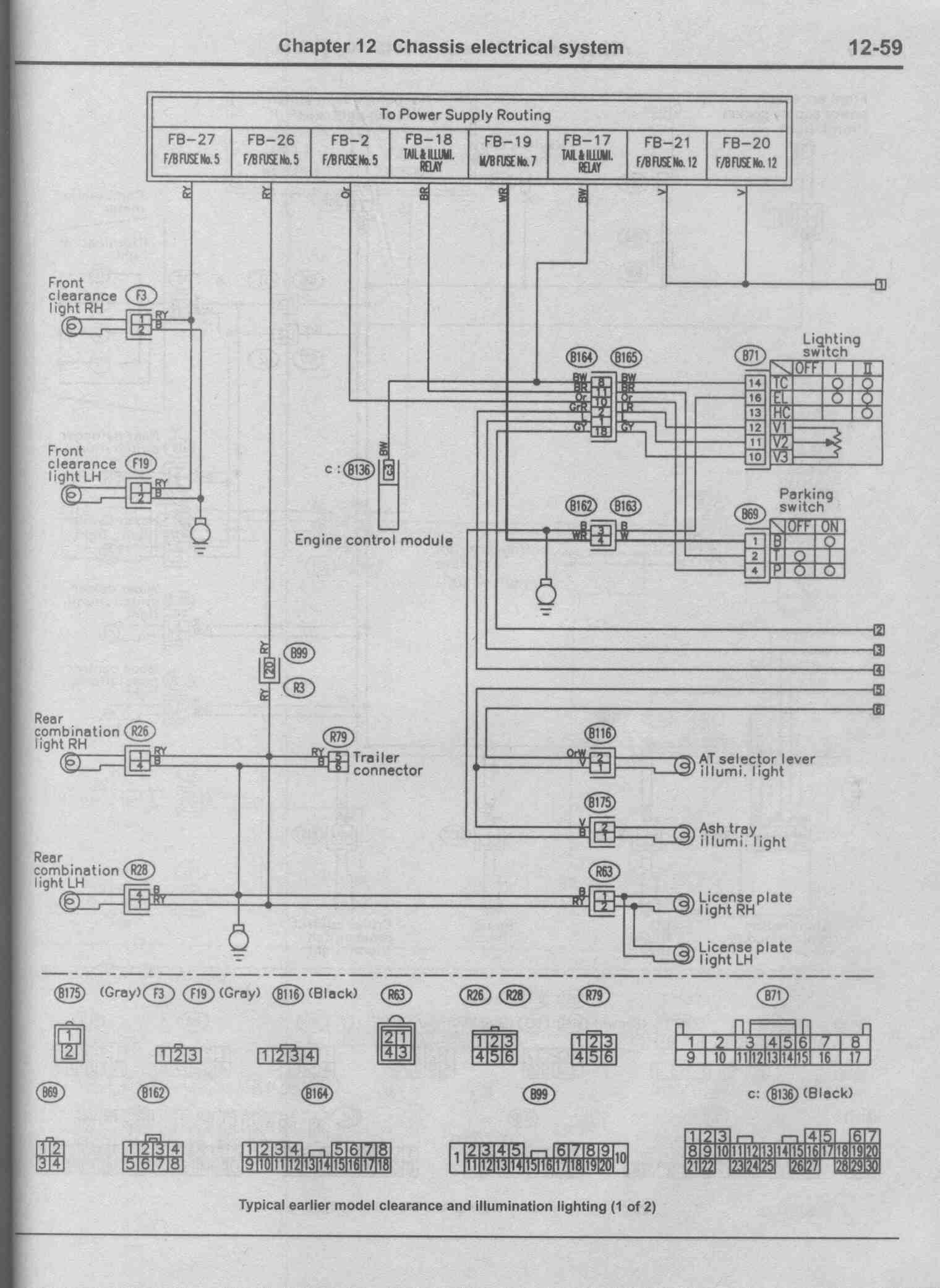 light wire diagram 2005 subaru