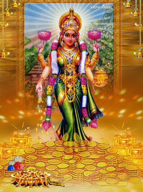 God Mahalakshmi Hd Wallpapers Gruhalakshmi Mahalakshmi Dhanalaxmi Entering Into House