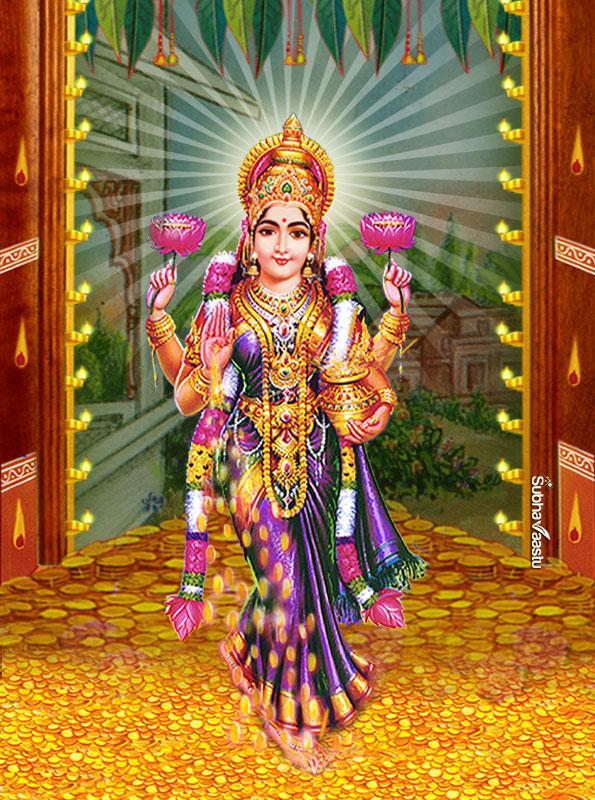 God Wallpaper Full Size Hd Gruhalakshmi Mahalakshmi Dhanalaxmi Entering Into House