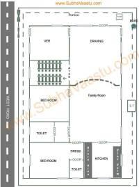 Vastu West Facing House Plan