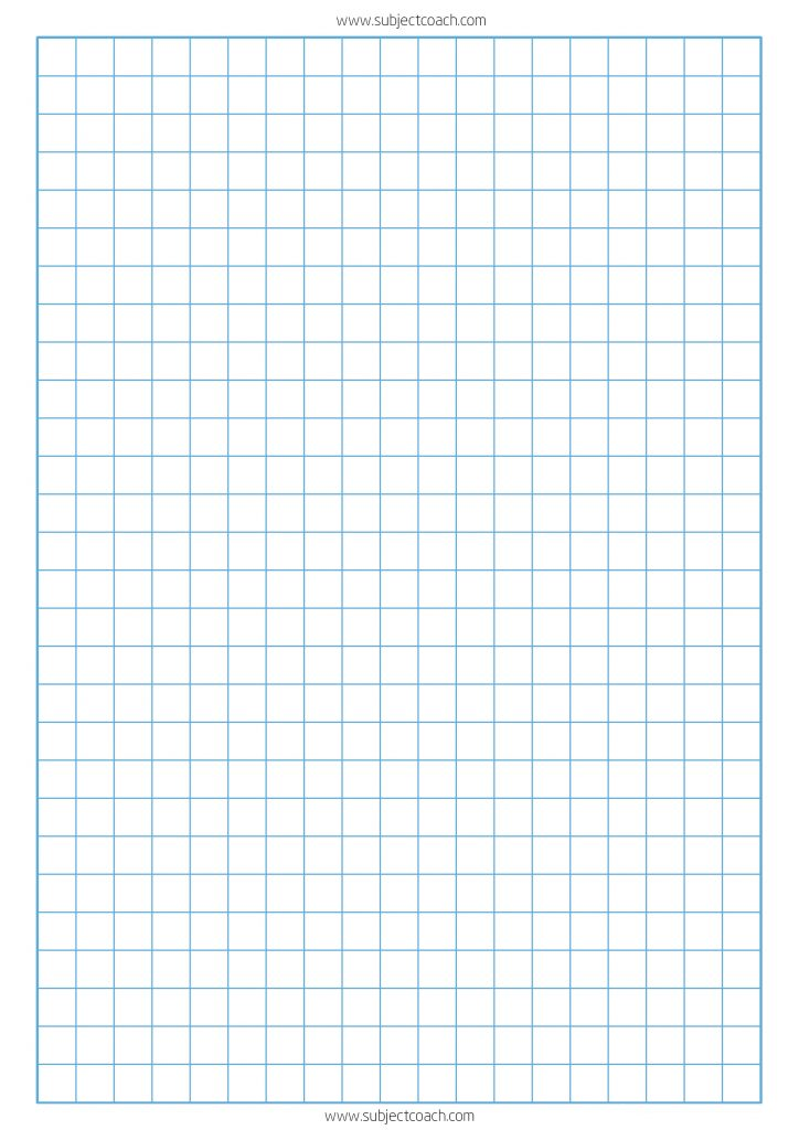 FREE printable graph paper 1cm for a4 Paper - SubjectCoach Blog