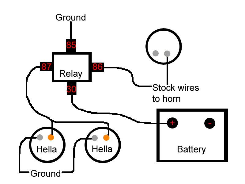 3 Wire Horn Relay Wiring Wiring Diagram