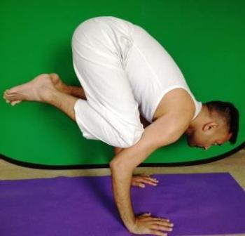 Yoga Pose Crow- Celebrity Yoga Trainer Subodh Gupta London