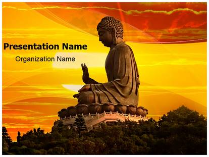 Buddhism PowerPoint Template Background SubscriptionTemplates - buddhism powerpoint