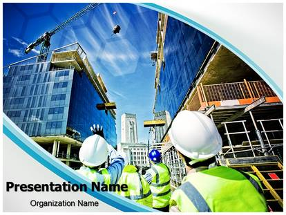 Building Construction PowerPoint Template Background