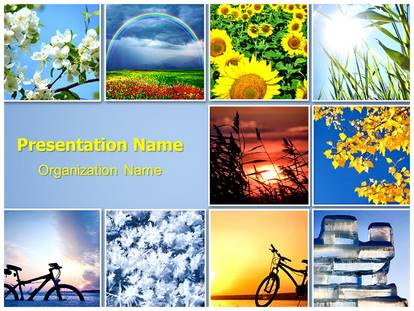 Four Seasons PowerPoint Template Background SubscriptionTemplates
