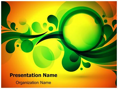Green Bubble Abstract PowerPoint Template Background