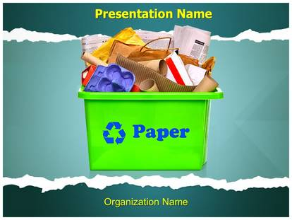 Paper Recycling PowerPoint Template Background - recycling powerpoint templates