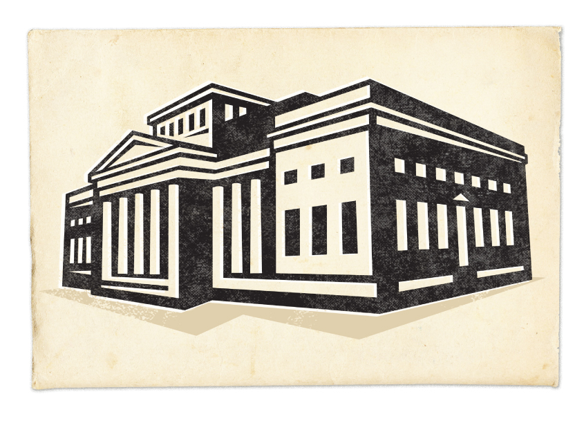 Manchester Art Gallery retro style print
