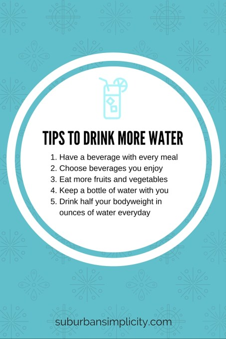 Tips for Drinking More Water